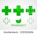 Pharmacy Symbols On White  ...