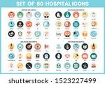 hospital icons set for business ... | Shutterstock .eps vector #1523227499