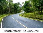 Curve Way Of Asphalt Road...