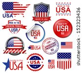 made in the usa. set of vector... | Shutterstock .eps vector #152323436