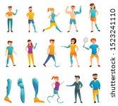 artificial limbs icons set....   Shutterstock .eps vector #1523241110