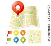 map location and pin pointer | Shutterstock .eps vector #152324474
