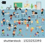 lesson in programming and... | Shutterstock .eps vector #1523252393