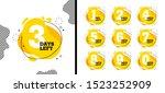 number days left countdown... | Shutterstock .eps vector #1523252909