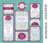 set 16 of wedding cards.... | Shutterstock .eps vector #152325950
