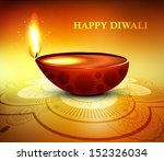 happy diwali diya greeting card ...   Shutterstock .eps vector #152326034
