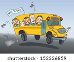 sad kids  crying  going back to ... | Shutterstock .eps vector #152326859