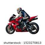 Racer On A Sports Motobike ...