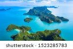 Aerial view ang thong national...