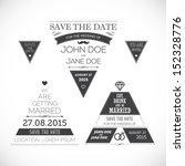 set of wedding typography... | Shutterstock . vector #152328776