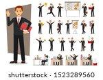 set of businessman character...   Shutterstock .eps vector #1523289560