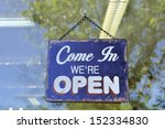 sign at a shop with the text ... | Shutterstock . vector #152334830