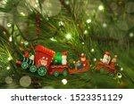 Red Wooden Hand Made Christmas...