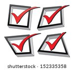 checked boxes is an... | Shutterstock .eps vector #152335358