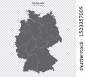 political map of germany...   Shutterstock .eps vector #1523357009
