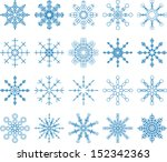 snowflake vector set | Shutterstock .eps vector #152342363