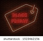 neon black friday price banner... | Shutterstock .eps vector #1523462156