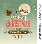 Vintage Vector Christmas Card...