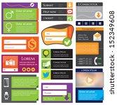 universal flat web design... | Shutterstock .eps vector #152349608