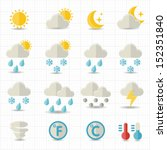 weather icons   Shutterstock .eps vector #152351840