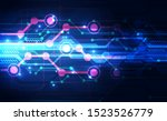 abstract futuristic digital... | Shutterstock .eps vector #1523526779