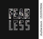 fearless   slogan typography... | Shutterstock .eps vector #1523535836