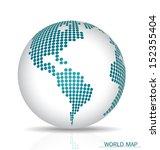 dotted globe. vector...   Shutterstock .eps vector #152355404