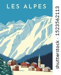 Alps Travel Retro Poster ...