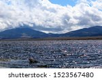 Eleven mile lake at an elevation of 10k feet is the highest lake of its kind in the lower 48 states, Georgetown, Colorado. - stock photo