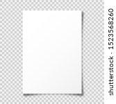 Realistic Blank Paper Sheet...
