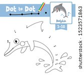 dot to dot educational game and ... | Shutterstock .eps vector #1523571863