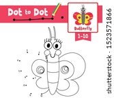 dot to dot educational game and ... | Shutterstock .eps vector #1523571866