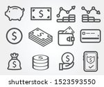 Thick Line Money Set Icon ...
