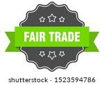 fair trade isolated seal. fair... | Shutterstock .eps vector #1523594786