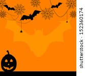 fun halloween border with bat... | Shutterstock .eps vector #152360174