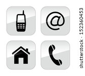 vector contact buttons set | Shutterstock .eps vector #152360453