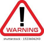 warning  warning sign icon ... | Shutterstock .eps vector #1523606243