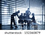 several silhouettes of... | Shutterstock . vector #152360879