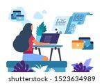 content writer. media creator...   Shutterstock .eps vector #1523634989
