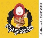 cartoon character muslim hejab  ...   Shutterstock .eps vector #1523651003