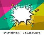 comic book geometric pop art...   Shutterstock .eps vector #1523660096