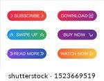 modern web buttons vector... | Shutterstock .eps vector #1523669519