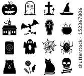 halloween icon set vector | Shutterstock .eps vector #152367806