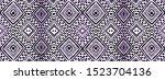 tie dye picture. ethnic pattern.... | Shutterstock . vector #1523704136