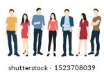 silhouettes of men and women... | Shutterstock .eps vector #1523708039