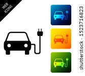 electric car and electrical...   Shutterstock . vector #1523716823