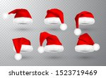 red santa claus hat isolated on ... | Shutterstock .eps vector #1523719469