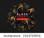 black friday sale. background... | Shutterstock .eps vector #1523724923