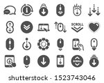 scroll down icons. scrolling...   Shutterstock .eps vector #1523743046