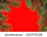 red round christmas frame from... | Shutterstock . vector #152375138